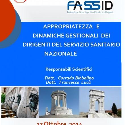 Appropriatezza e Dinamiche Gestionali dei Dirigenti del Servizio Sanitario Nazionale – Ancona  17 Ottobre 2014