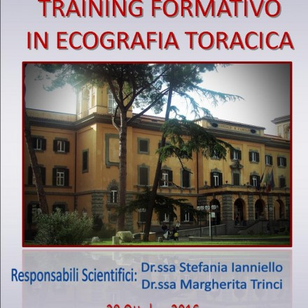 Training Formativo in Ecografia Toracica –  Roma 28 Ottobre  2016
