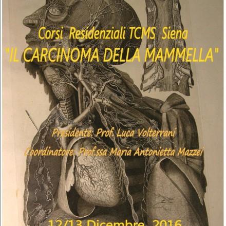 """Corsi Residenziali TCMS Siena """"IL CARCINOMA DELLA MAMMELLA"""""""