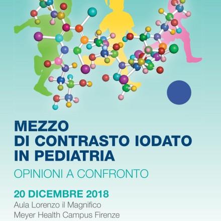 Mezzo di Contrasto Iodato in Pediatria  – Firenze, 20 Dicembre   2018