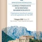 Corso Itinerante di Screening  Mammografico  – Massa  7 Giugno   2019