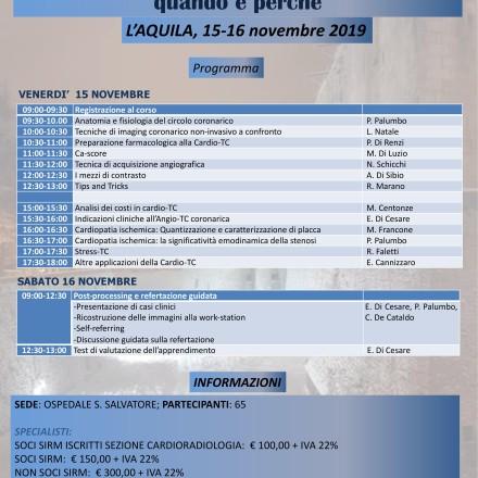 Programmi Didattici Aquilani 2019 – 15/16  Novembre 2019 L'Aquila