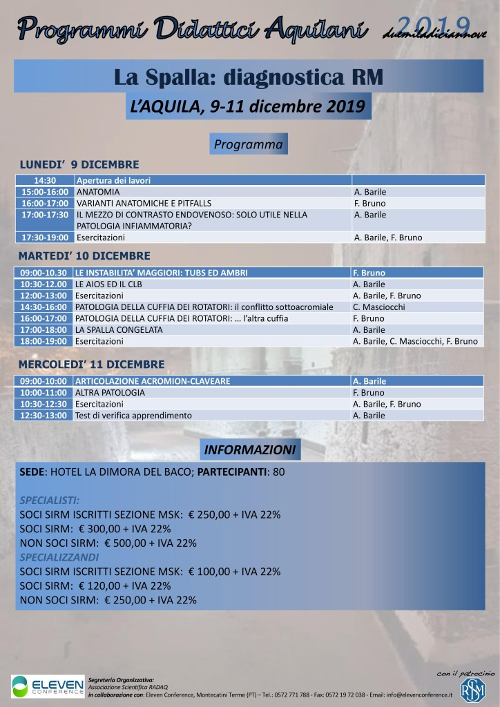 9-11 Dicembre L'Aquila