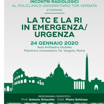LA TC e la RI in Emergenza Urgenza –  Roma  24  Gennaio  2020