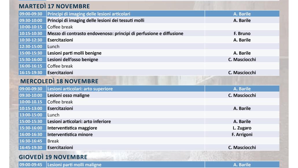 """NUOVA DATA  """"Diagnostica per Immagini delle Lesioni dell'osso, delle parti molli   e articolari: Capitolo 2""""   Rimini 16/19 Novembre  2020"""
