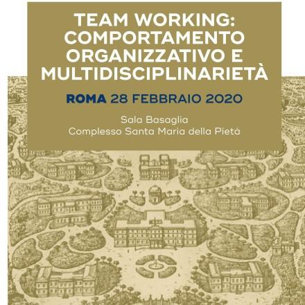 TEAM WORKING: Comportamento organizzativo e Multidisciplinarietà –  Roma  28  Febbraio 2020