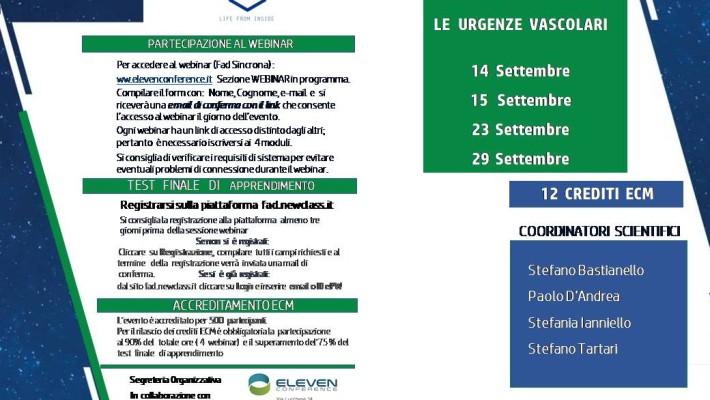 Webinar ( Fad Sincrona)  Le Emergenze Vascolari   – Settembre  2020