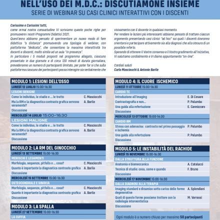 Programmi Didattici Aquilani  –  Luglio-Novembre  2021